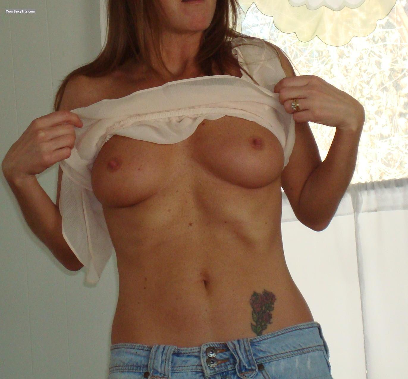 Tit Flash: Medium Tits - Dirty Girl from United States