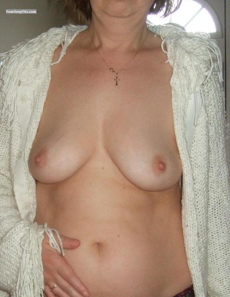Tit Flash: Wife's Medium Tits - Wife1 from United Kingdom