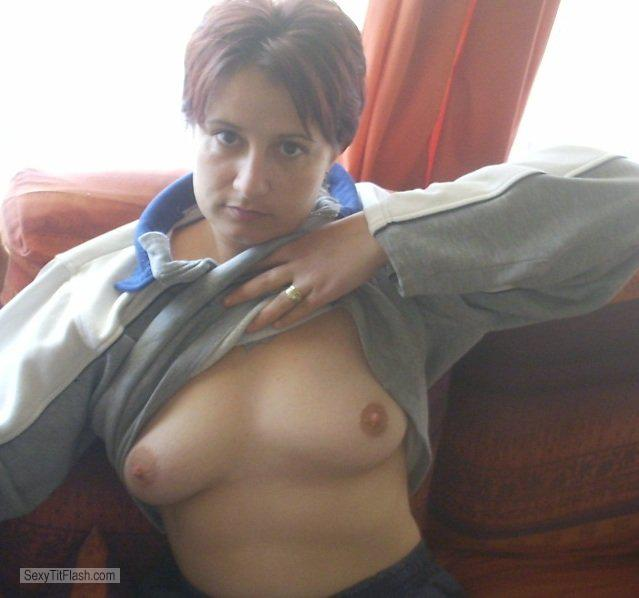 Tit Flash: My Medium Tits (Selfie) - Topless Maggy from South Africa