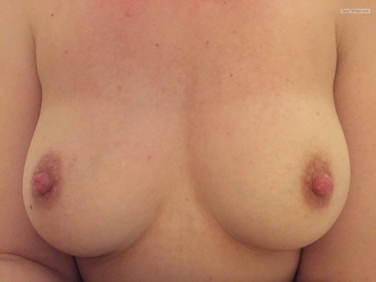 Tit Flash: My Medium Tits (Selfie) - BoggaNops from United Kingdom