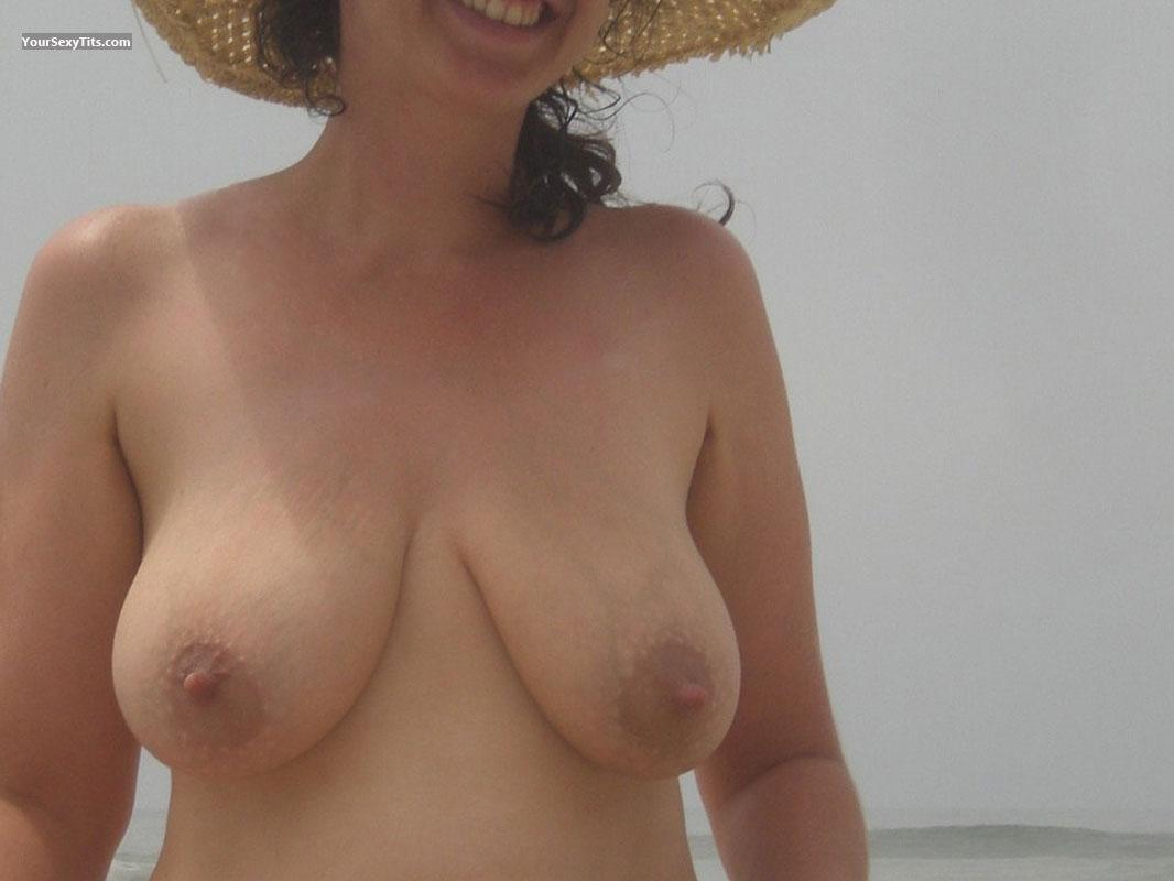 Tit Flash: My Friend's Medium Tits - Rebecca from United States