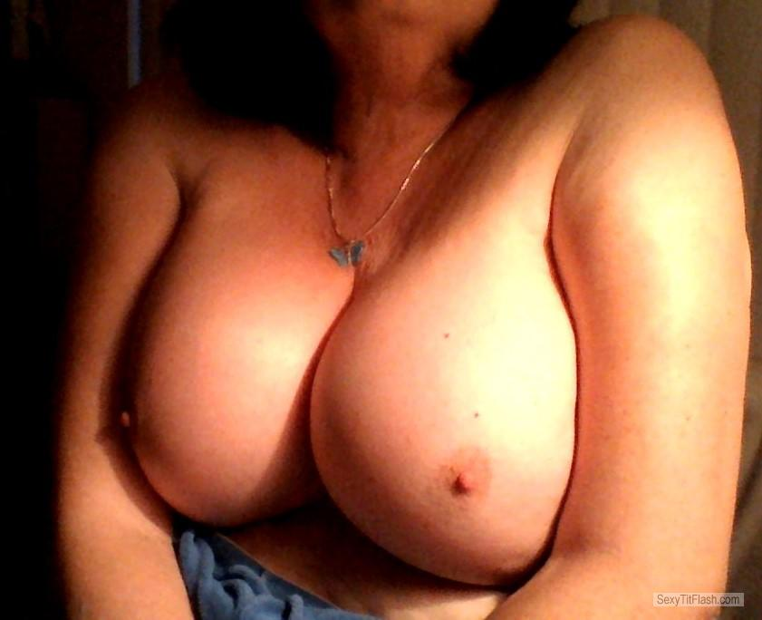 Tit Flash: My Medium Tits (Selfie) - Sammi from United States