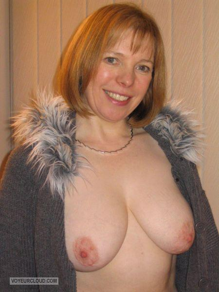 Tit Flash: My Medium Tits - Topless Joan from United States