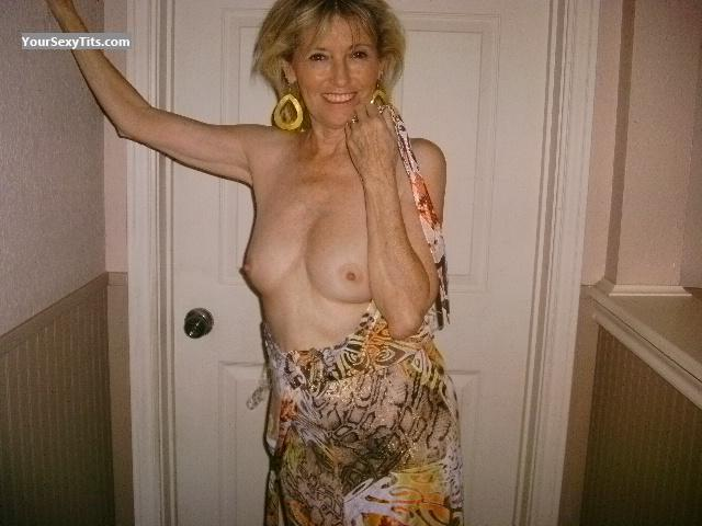 Tit Flash: Wife's Medium Tits - Topless A. Playmate from United States