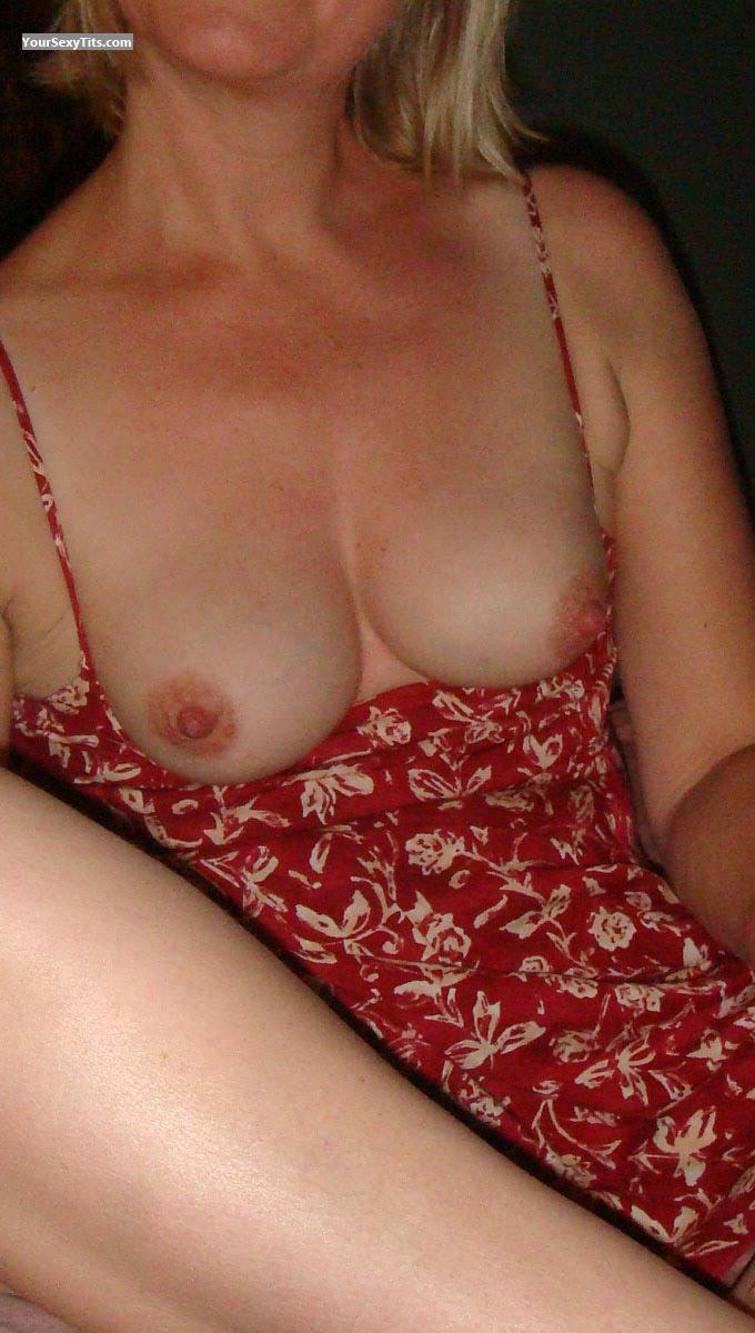 Tit Flash: Wife's Medium Tits - Sweetie from United Kingdom
