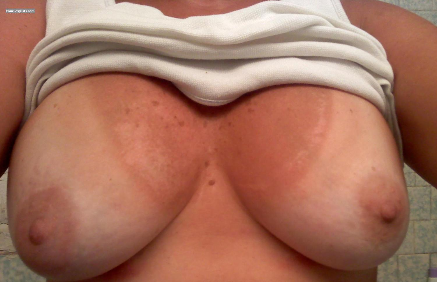 Tit Flash: My Medium Tits (Selfie) - RIGirl from United States