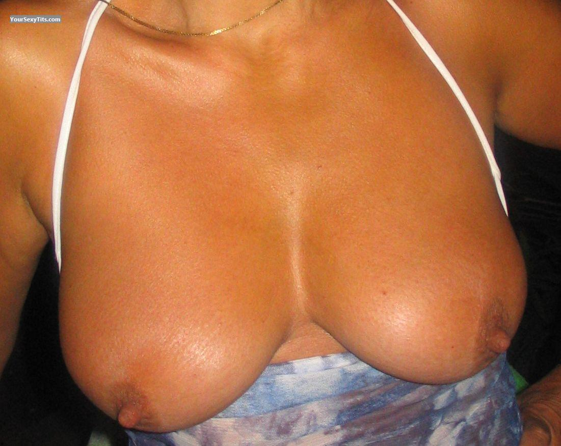 Tit Flash: Medium Tits - Marie from France