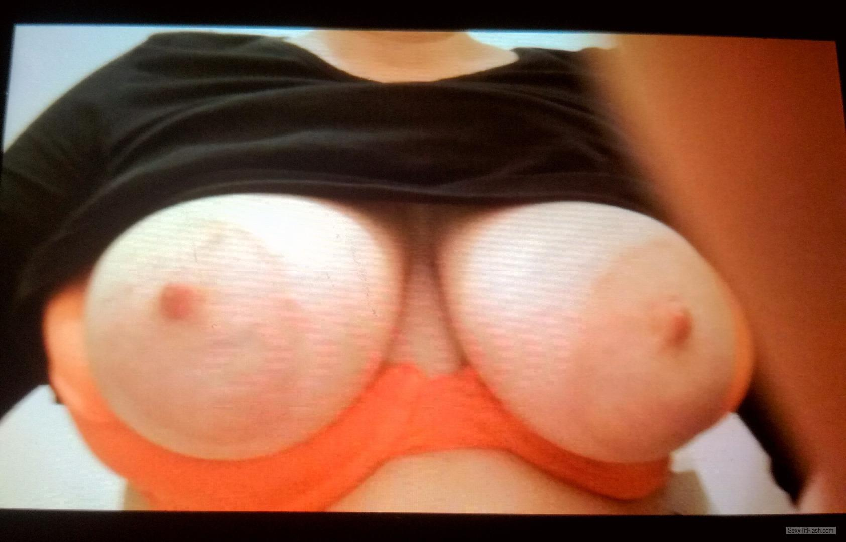 My Medium Tits Topless Selfie by Sara