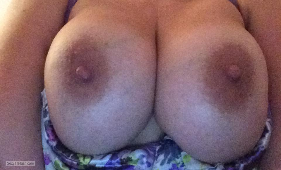 Tit Flash: My Medium Tits - Topless Justboobies from United Kingdom