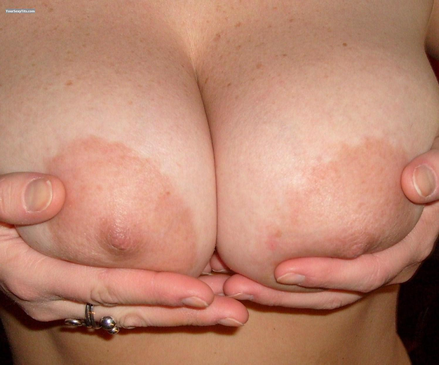 Tit Flash: Medium Tits - Topless Peteralf from Germany