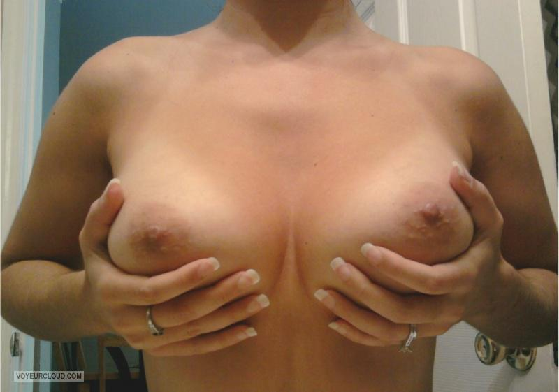 Tit Flash: My Tanlined Medium Tits (Selfie) - Rea from United States