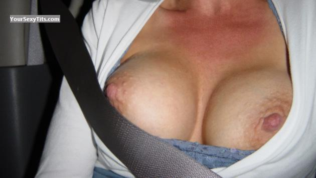 Tit Flash: Wife's Medium Tits - Sexy4me from United States