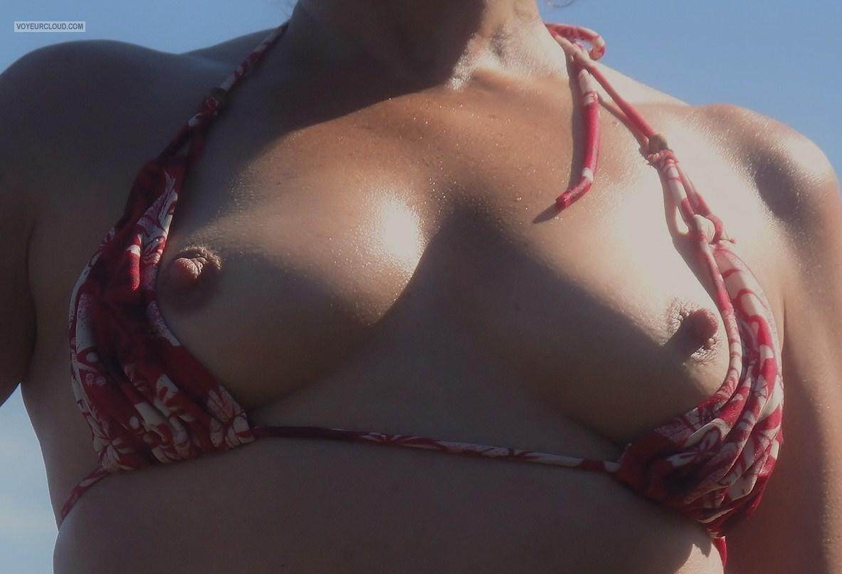 Tit Flash: Room Mate's Small Tits - Nips from South Africa