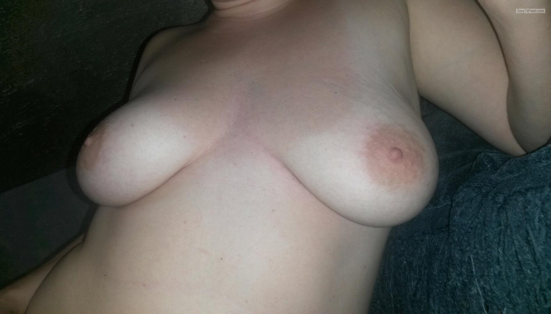 Tit Flash: My Medium Tits - Penny Lane from United Kingdom