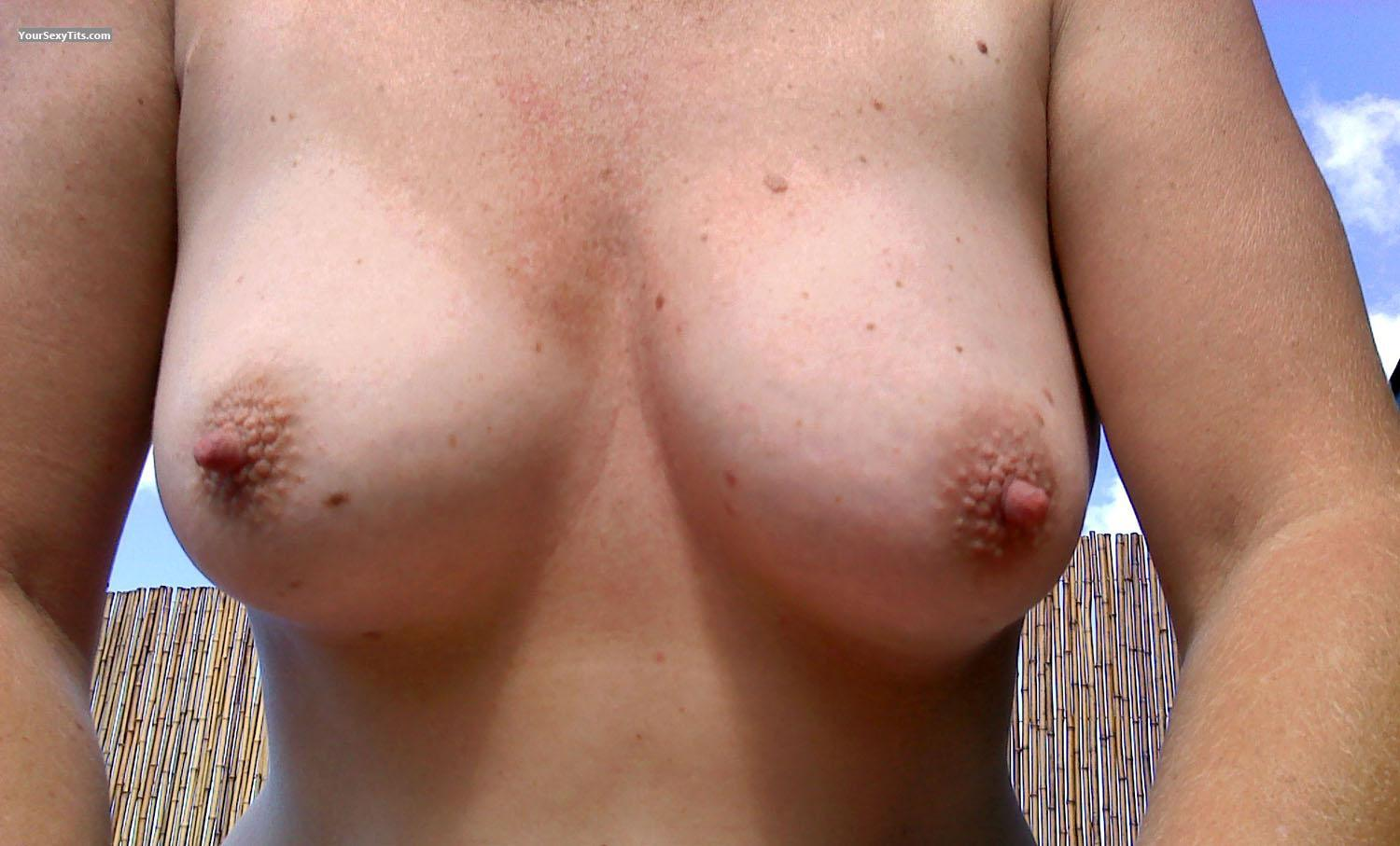 Tit Flash: Medium Tits - Maggie from United States