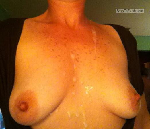 Tit Flash: My Medium Tits (Selfie) - Linds from United States