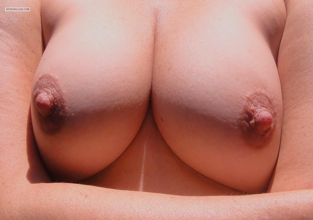 Tit Flash: My Friend's Medium Tits - Amber from United States