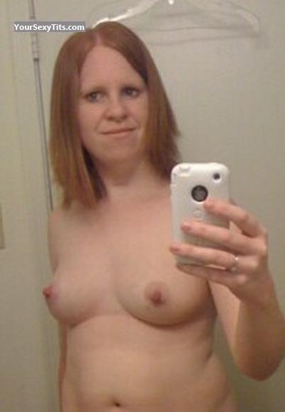 Tit Flash: My Medium Tits (Selfie) - Topless Mrs C from United States