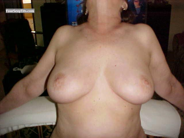Tit Flash: My Medium Tits - Debbie from United States