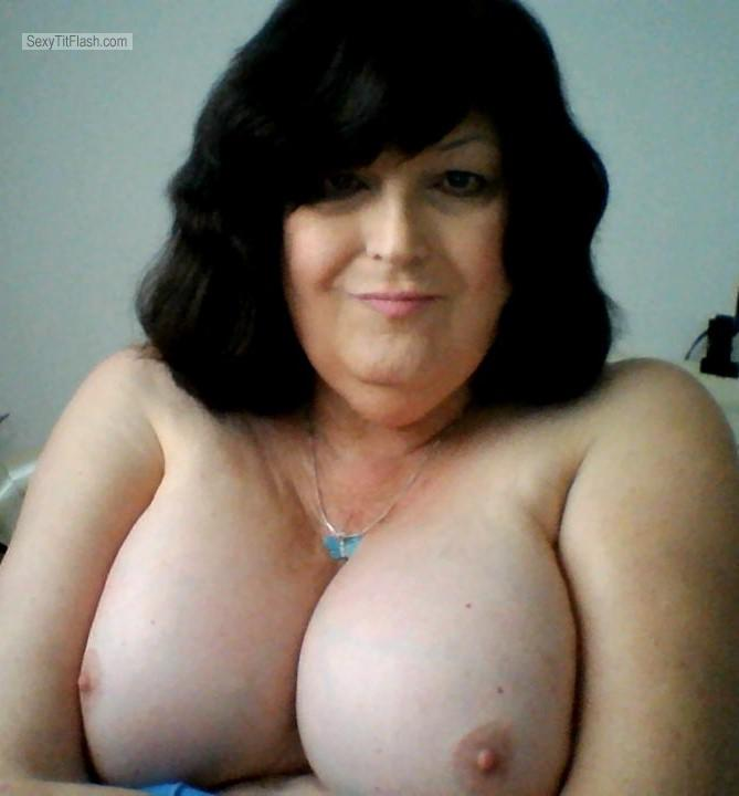 Tit Flash: My Big Tits (Selfie) - Topless Sammi from United States