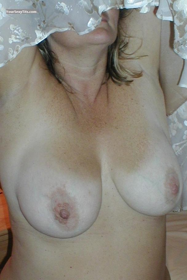 Tit Flash: Medium Tits - Angelina from Spain