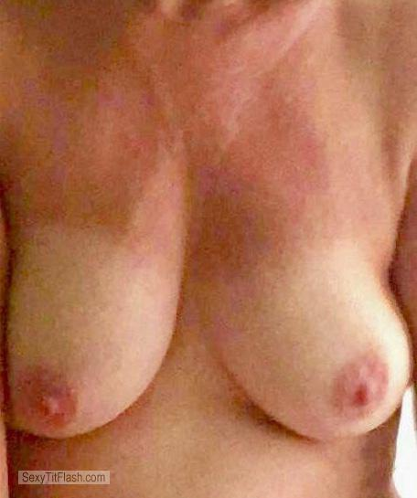 Tit Flash: My Medium Tits - Aawifey from United States