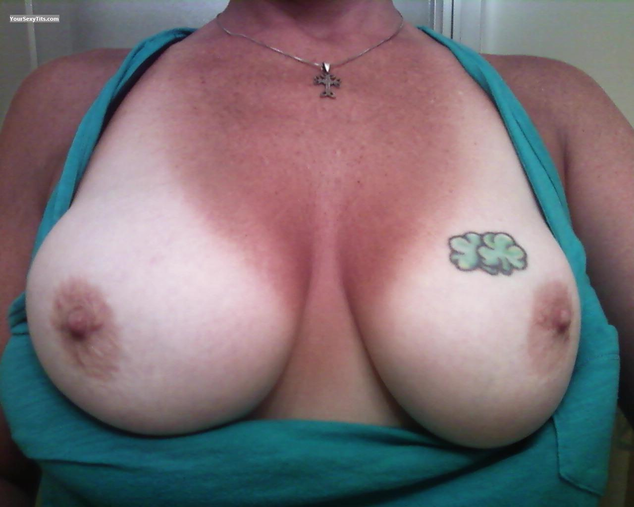 Tit Flash: My Medium Tits (Selfie) - Amber from United States
