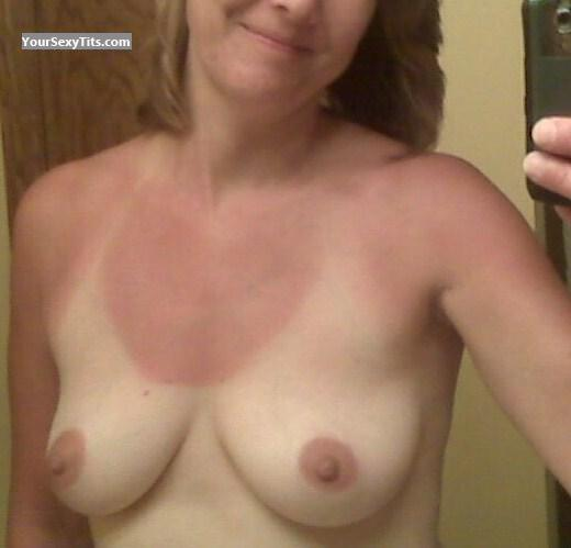 Tit Flash: My Medium Tits (Selfie) - Mom from United States
