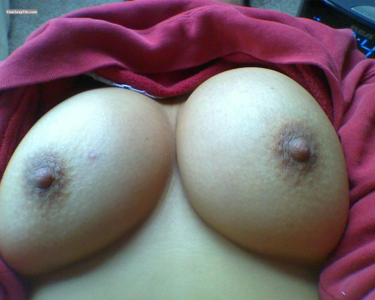 Tit Flash: My Medium Tits (Selfie) - Gushing Gramma from United States