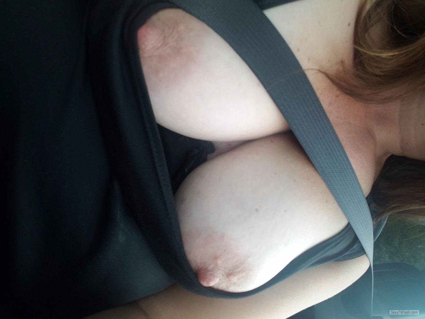 Tit Flash: My Medium Tits (Selfie) - Copper111 from United States
