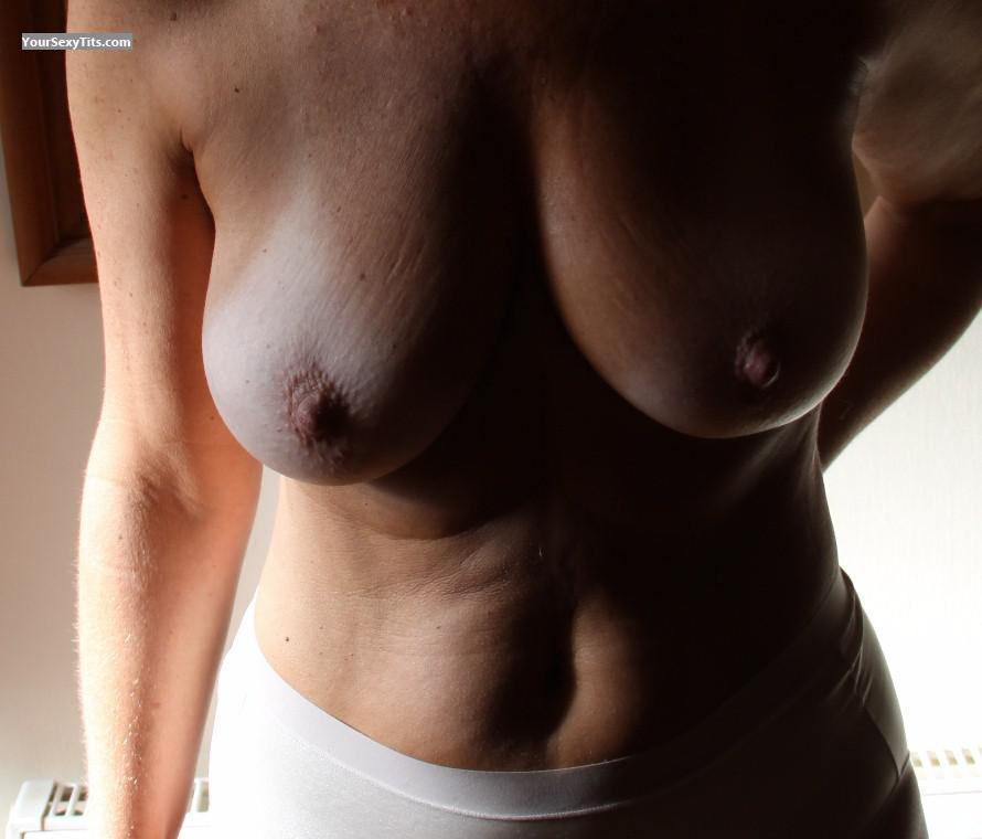 Tit Flash: Wife's Tanlined Medium Tits - Argentina49 from Argentina