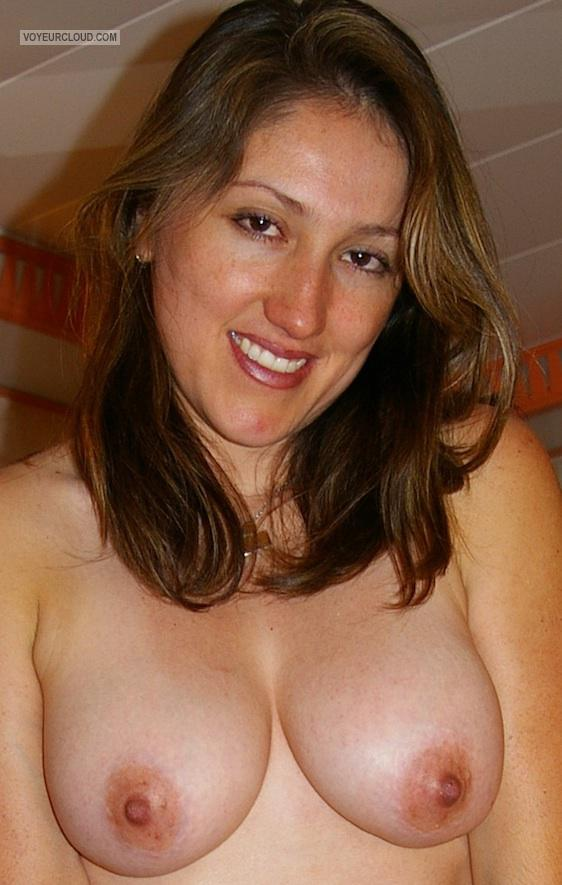 Tit Flash: Room Mate's Medium Tits - Topless Vane from Mexico