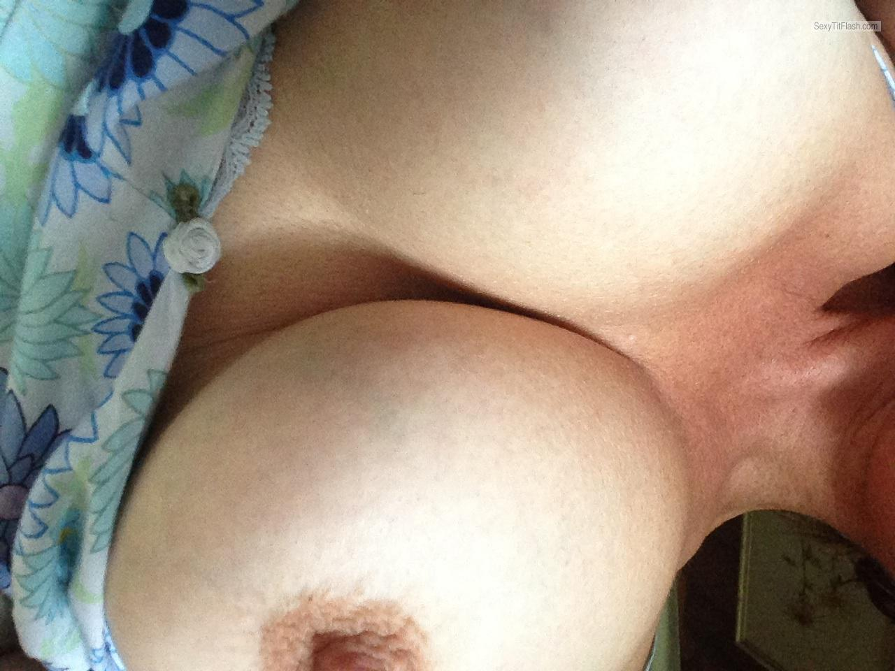 Tit Flash: Room Mate's Big Tits - Anna from United States