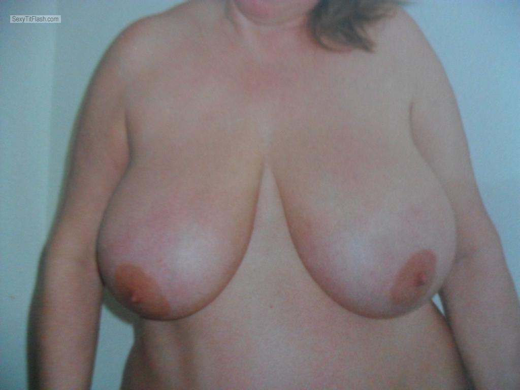 Tit Flash: Wife's Big Tits - Babs from United States
