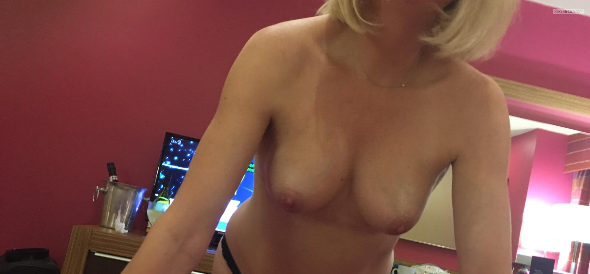 My Medium Tits Topless Selfie by Lola