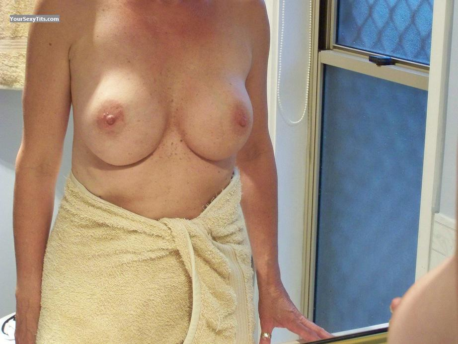 Tit Flash: Wife's Medium Tits - Chrissy from Australia