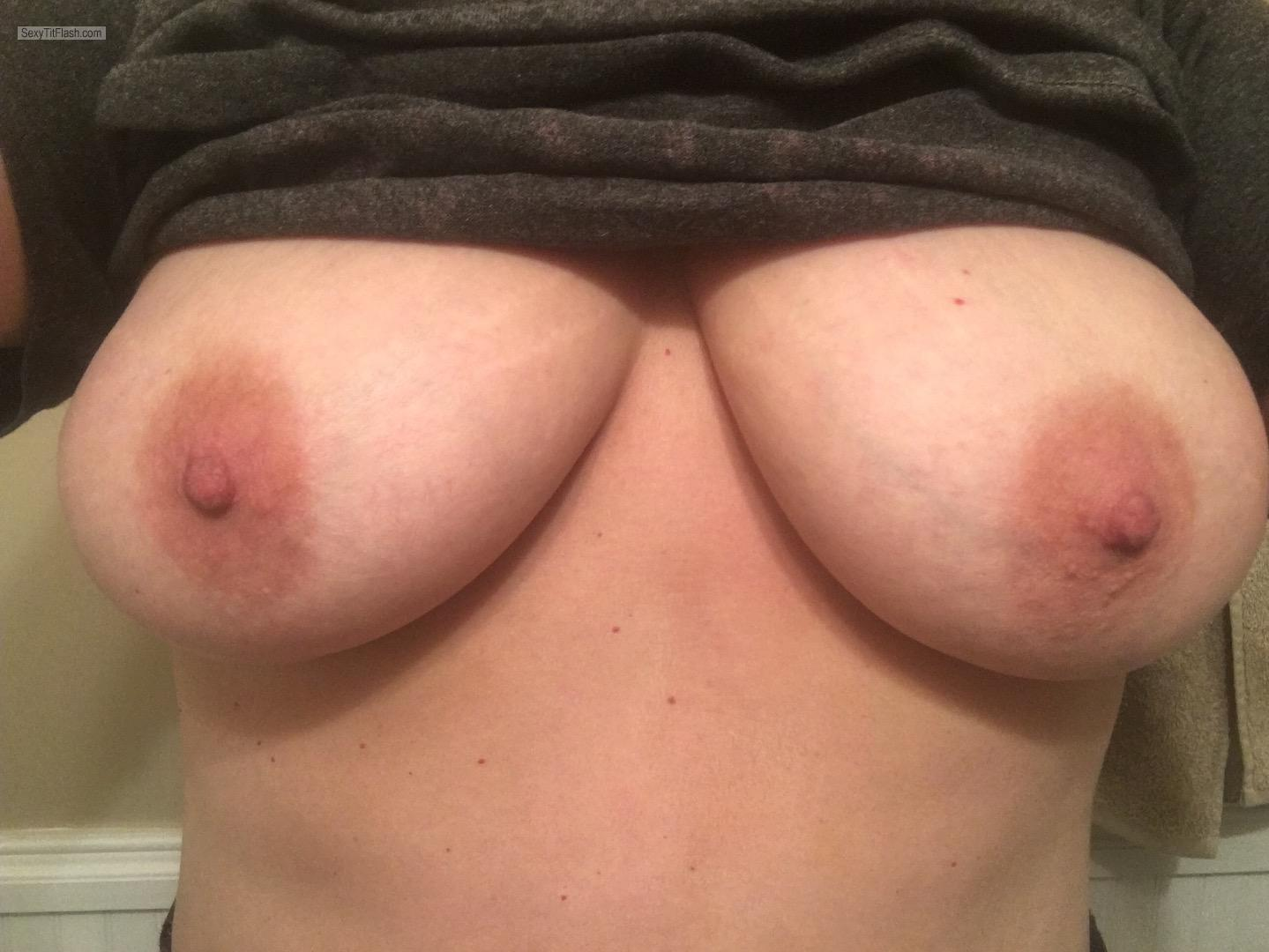 My Medium Tits Topless Selfie by Shan