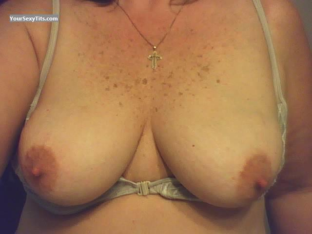 Tit Flash: My Medium Tits (Selfie) - Camping Girl from United StatesPierced Nipples