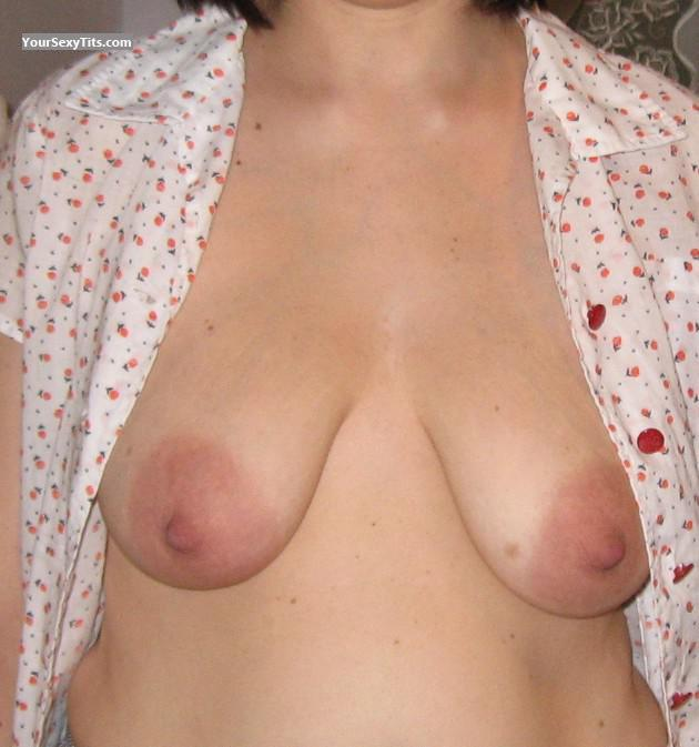 Tit Flash: Medium Tits - Lorette from United States