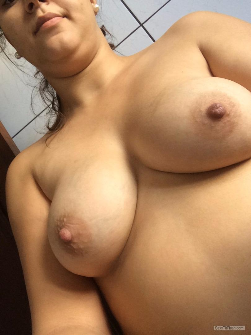 My Medium Tits Topless Selfie by Amy