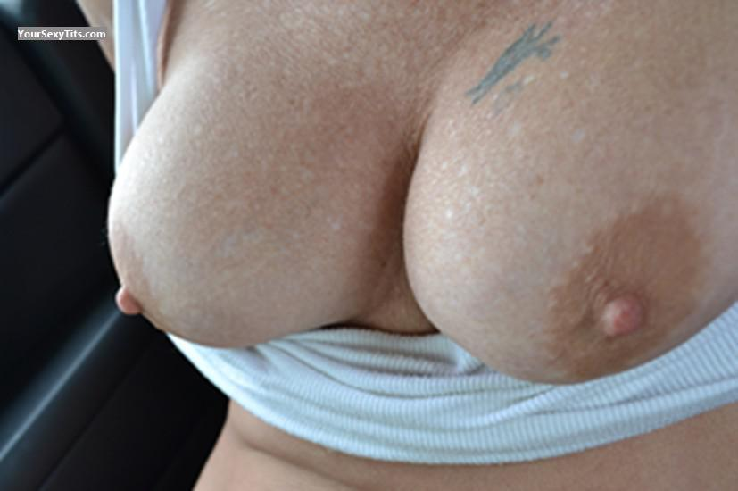 Tit Flash: Girlfriend's Medium Tits - Aggie from United States