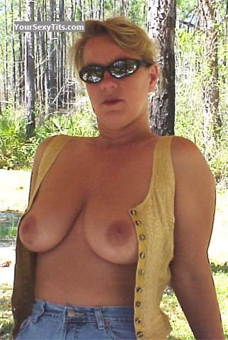 Tit Flash: My Medium Tits - Topless GA Lili from United States