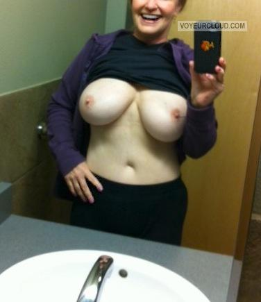 Medium Tits Of My Wife Selfie by Randymann
