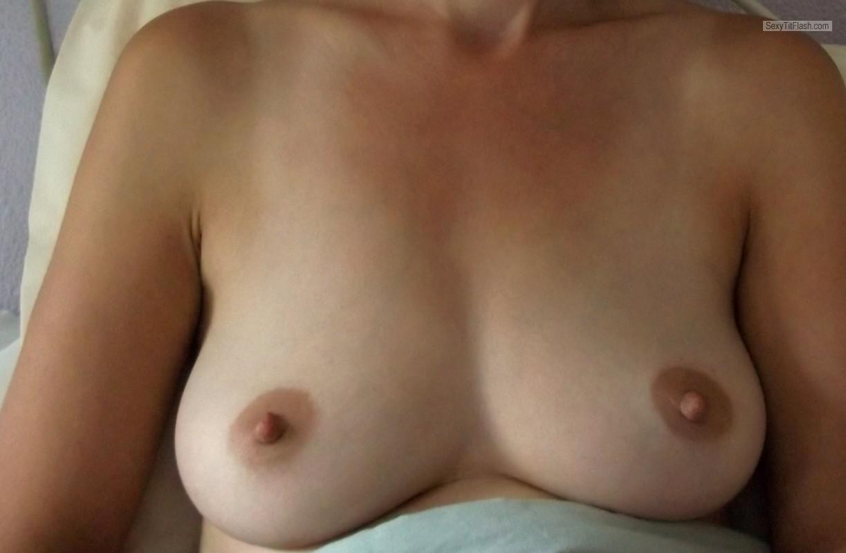 Tit Flash: Wife's Medium Tits - Dee from Canada