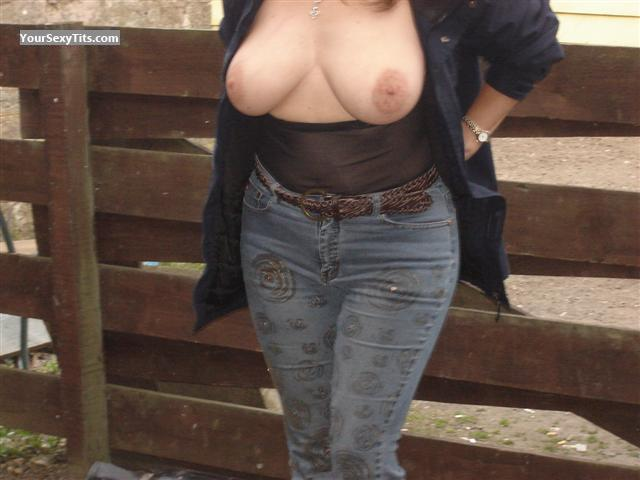 Tit Flash: Medium Tits - Smooth from United Kingdom