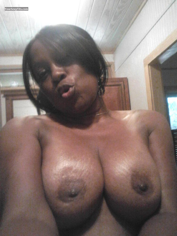 Tit Flash: My Medium Tits (Selfie) - Topless Samantha from United States