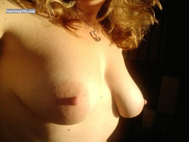 Tit Flash: My Medium Tits (Selfie) - Swedish Flasher from Sweden