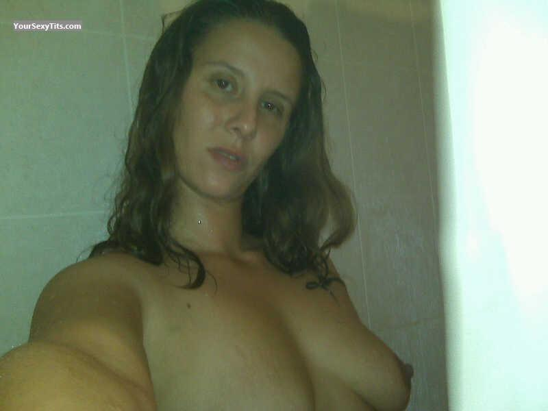 Tit Flash: My Medium Tits (Selfie) - Topless Carla from United States