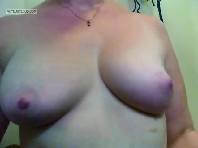 Tit Flash: My Medium Tits (Selfie) - Girlx from United States