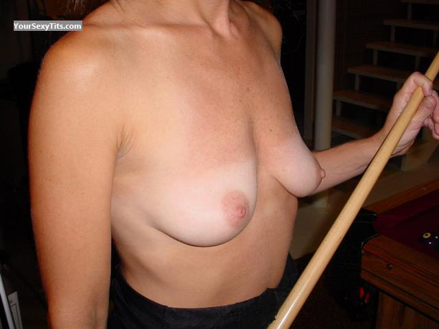 Tit Flash: Wife's Medium Tits - Skinard from United States